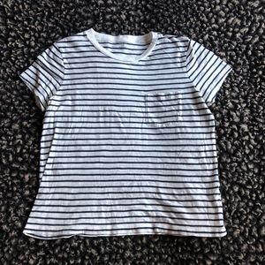 Madewell striped white and blue t-shirt size M